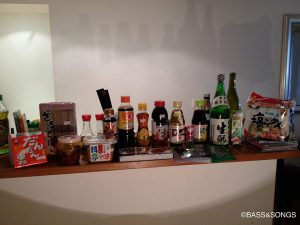 オペラ座のそばの日本食材店で買い揃えた調味料の数々