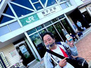 五能線の鯵ヶ沢駅で降り