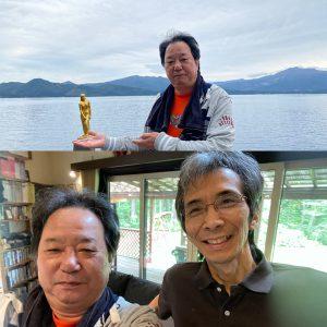 田沢湖へ。湖畔のペンションオーナーの友達と3年ぶりに会えました。
