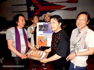 そういえば今日は青山純の誕生日。おめでとう!(2012年横浜YCCでのReraxin' at IWAKI ALIOSのリリースライブの一コマ)
