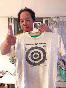 99年にハワイの射撃場でマグナム打った時の的になったTシャツ